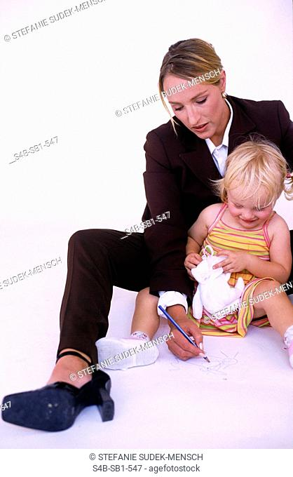 Businesswoman with Child