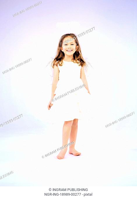 Joyful girl smiling and having fun