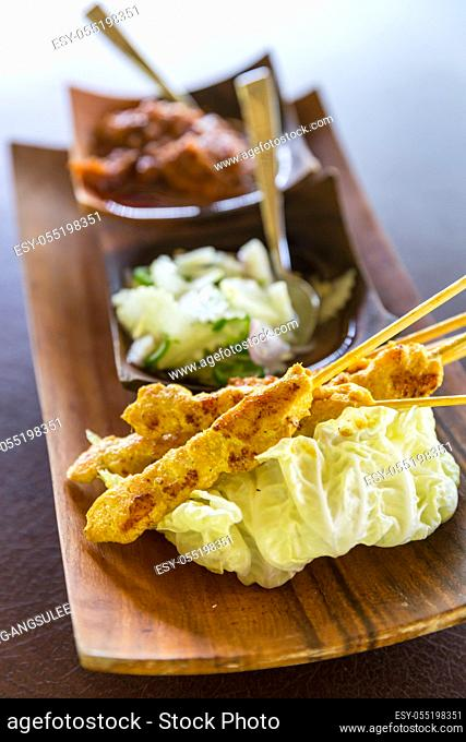Delicious Asian Cuisine Chicken Satay Curry