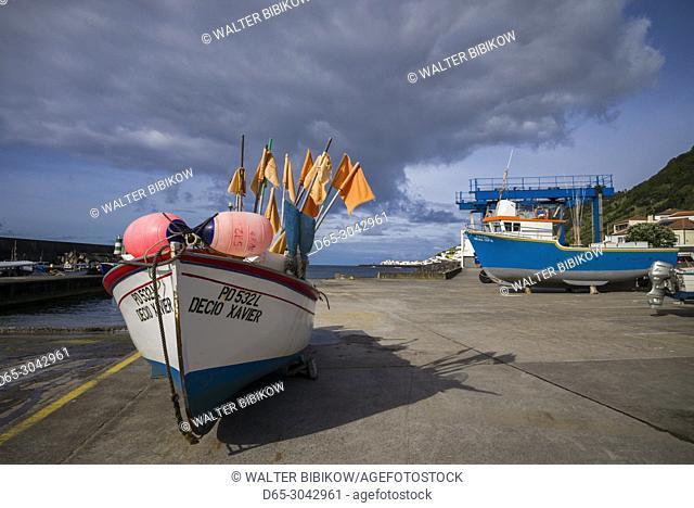 Portugal, Azores, Sao Miguel Island, Ribeira Quente, fishing port