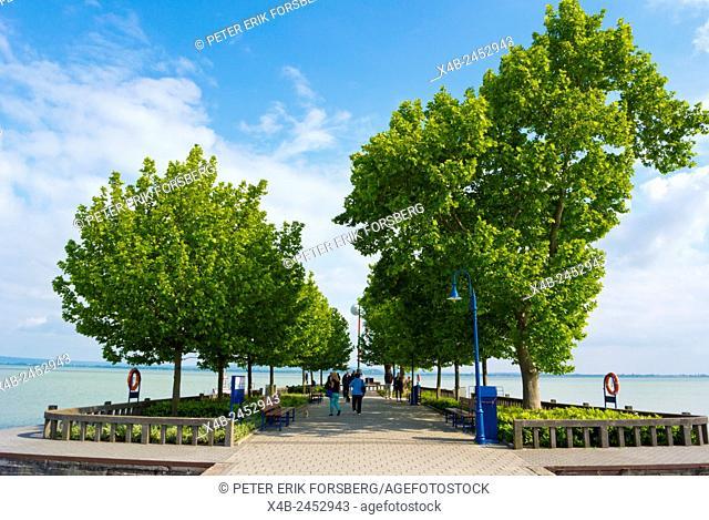 Pier, Revfulop, Lake Balaton, Hungary, Europe