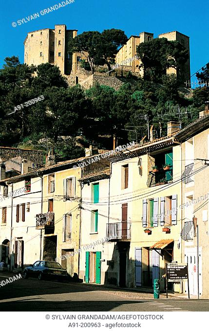 Meyrargues village and fortress. Provence. France