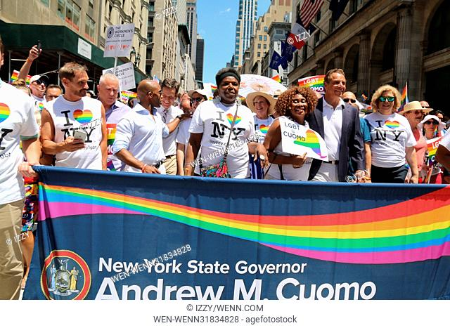 New York City Gay Pride 2017 march in New York City. Featuring: Governor Andrew M. Cuomo Where: New York City, New York, United States When: 25 Jun 2017 Credit:...