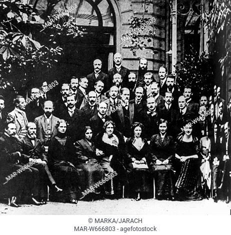 sigmund freud al terzo congresso di psicoanalisi, 1911
