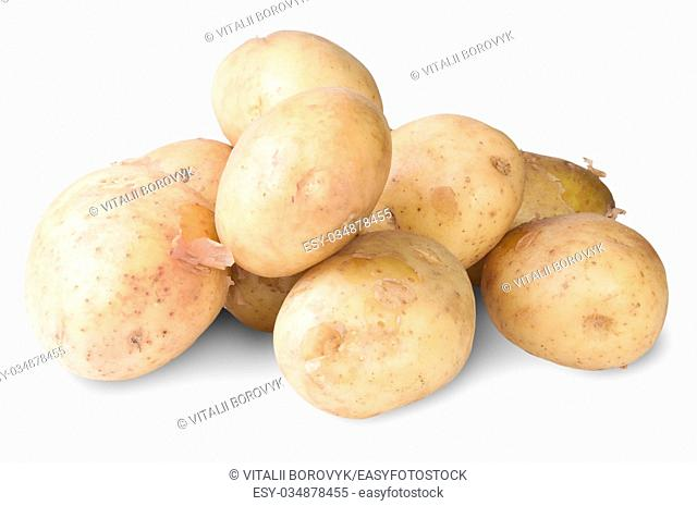 The New Potato Isolated On White Background