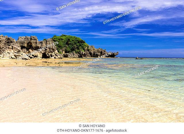 Tokei Beach, Kouri Island, a small outlying island famous for its most beautiful sea in Okinawa, Okinawa, Japan
