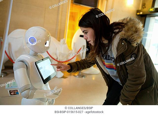 Pepper, a welcome robot at Paris' 15th arrondissement city hall
