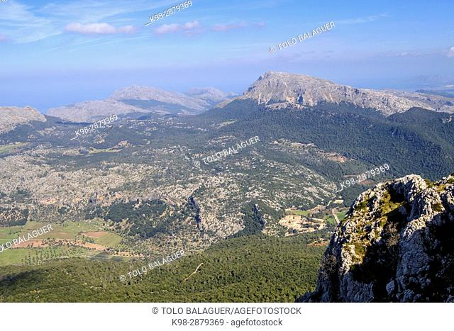 Puig den Galileu, sierra de Tramuntana, Mallorca, balearic islands, spain, europe