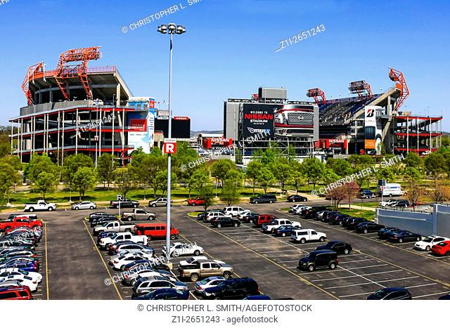 The Nissan Stadium in Nashville, home of the Tennessee Titans football team