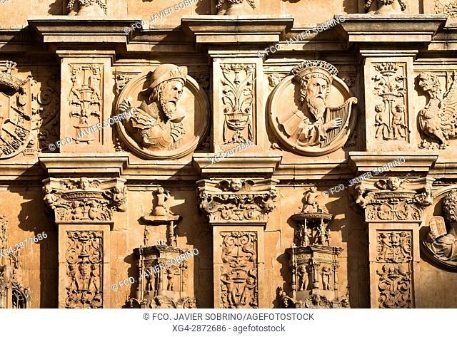 Detalle de la portada del Convento de San Esteban. Salamanca. Castilla-León. España. Europa