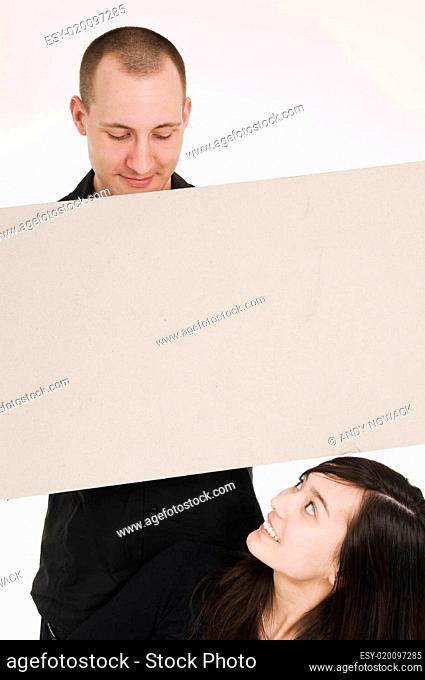 couple with board horizontal