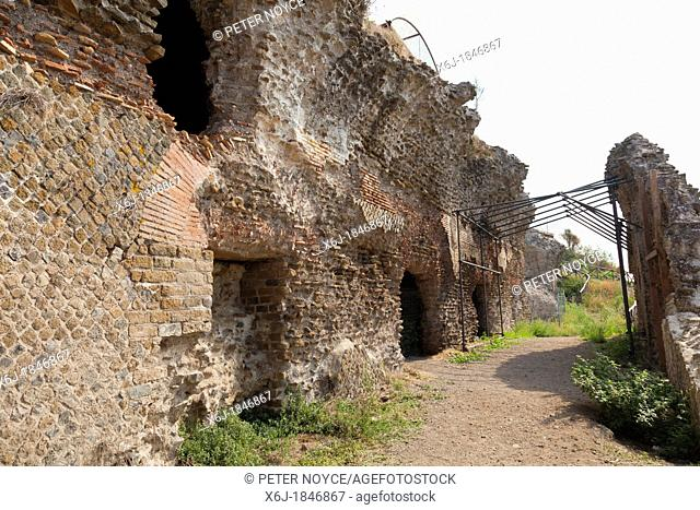 Ruins of the roman city of Tusculum on the Tuscolo Hill south of Rome