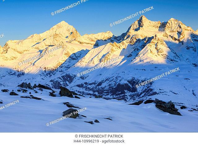 Dent Blanche - 4357 ms, Ober Gabelhorn - 4063 ms, Valais, Switzerland