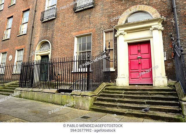 Doors in Henrietta street, Dublin, Ireland