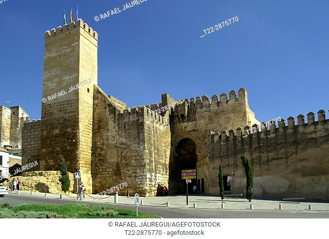 Carmona (Seville) Spain. Alcázar of the door of Seville
