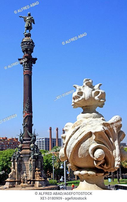 Columbus Monument, Barcelona, Catalonia, Spain