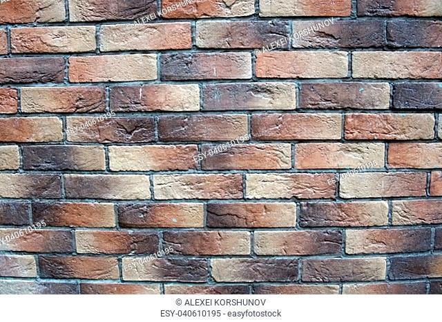 A wall made of bricks close up