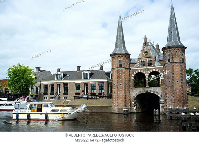 Waterpoort in Sneek, Friesland province (Fryslan), Netherlands