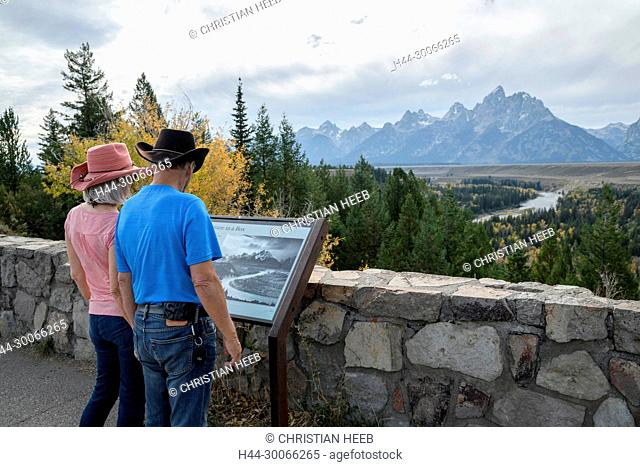 North America, American, USA, Rocky Mountains, West, Grand Teton National Park, Snake river overlook