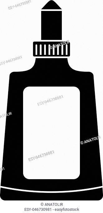 Glue bottle icon. Simple illustration of glue bottle vector icon for web design isolated on white background