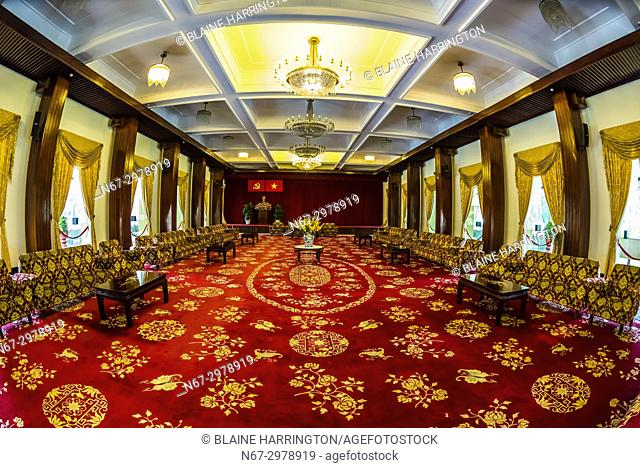 Conference Hall of the former South Vietnamese government, Reunification Palace (formerly the Presidential Palace), Ho Chi Minh City (Saigon), Vietnam