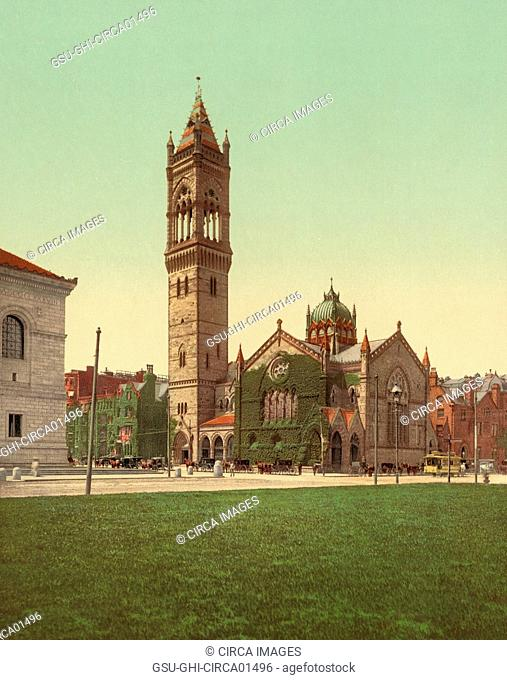 New Old South Church, Boston, Massachusetts, USA, Photochrome Print, circa 1900