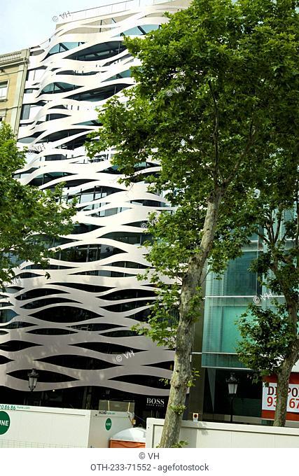 Suites Avenue Building, Toyo Ito architect, Passeig de Gracia, Barcelona, Catalonia, Spain, Europe