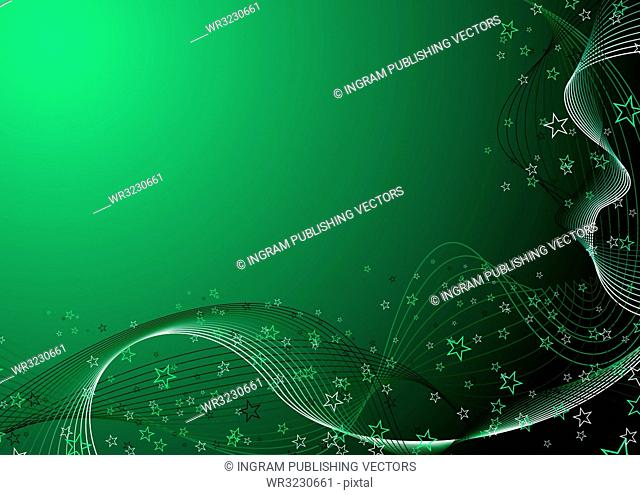 Abstract illustrated background in different shades of green