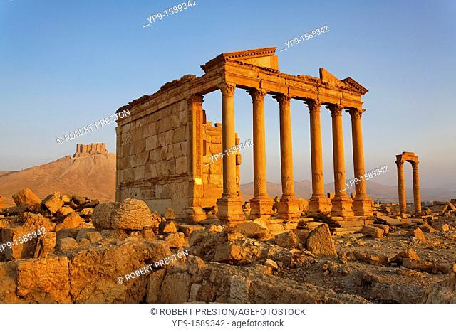 The Funerary Temple and Arab Castle at Palmyra, Syria