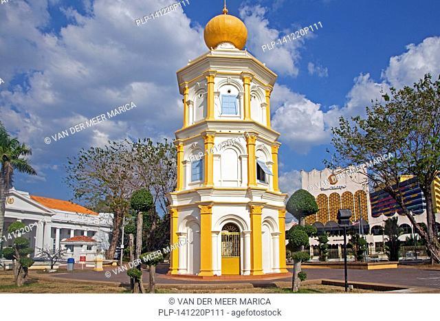 Balai Nobat / Hall of drums, 3-tiered octagonal tower housing the royal musical instruments in the city Alor Setar / Alor Star, Kedah, Malaysia