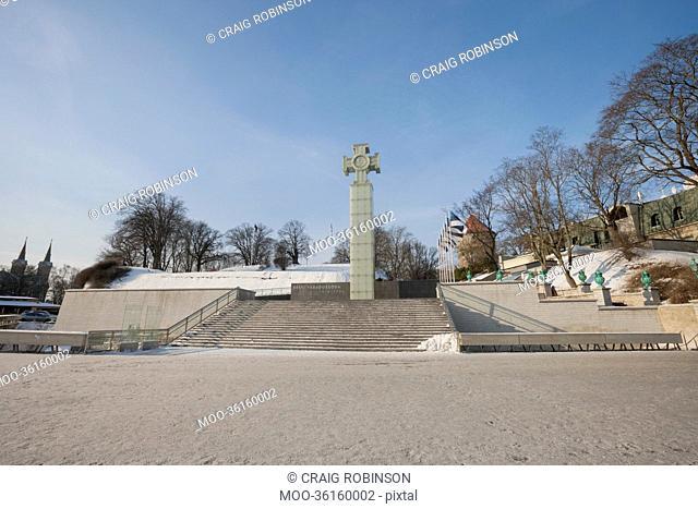 Freedom Monument and Freedom Square, Tallinn, Estonia, Europe