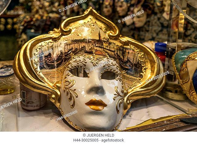 Venetian masks shop, Venezia, Venice, Venedig, Italia, Europe