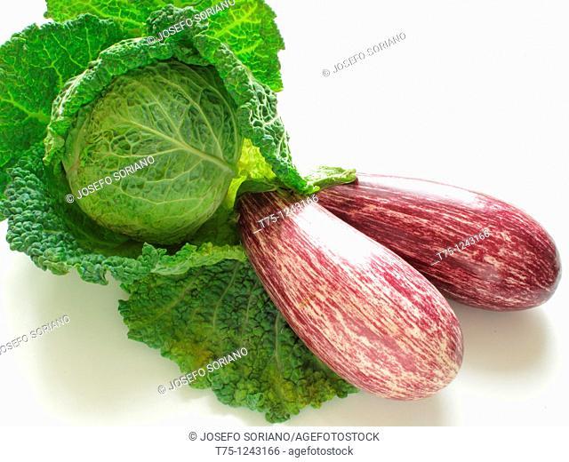 Cabbage and eggplants