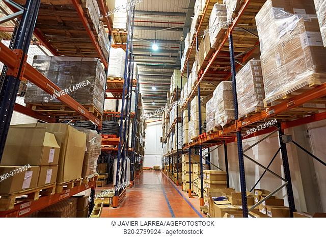 logistics warehouse, pallet storage