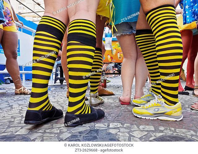 Brazil, State of Rio de Janeiro, City of Rio de Janeiro, City Center, Street Carnival.