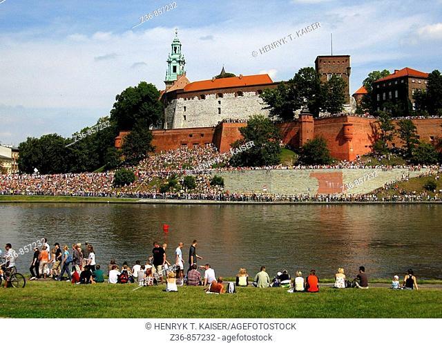 Poland, Krakow, Wawel Hill, Vistula river, event