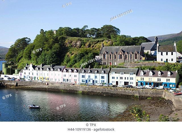 UK, United Kingdom, Europe, Scotland, Inner Hebrides, Hebrides, Isle of Skye, Skye, Portree, Harbour, Port, Coast, Sea, Tourism, Travel, Holiday, Vacation