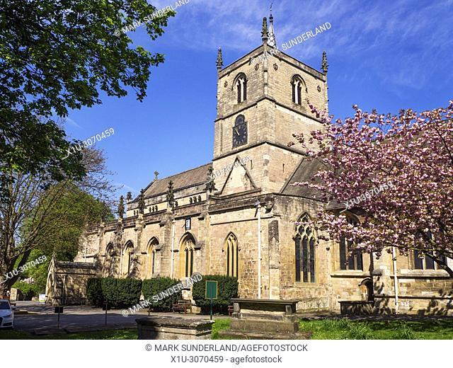 Parish Church of St John the Baptist in Spring Knaresborough North Yorkshire England