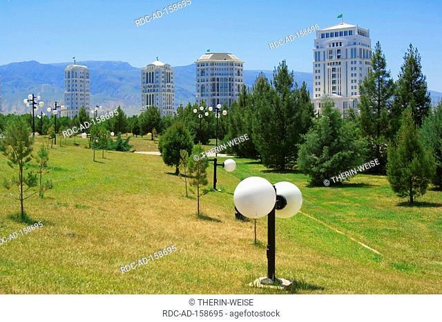 Modern residential houses Independence Park Ashgabat Turkmenistan Asgabat