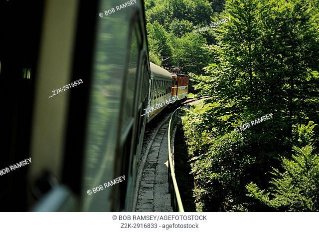 Balkan express train in Montenegro