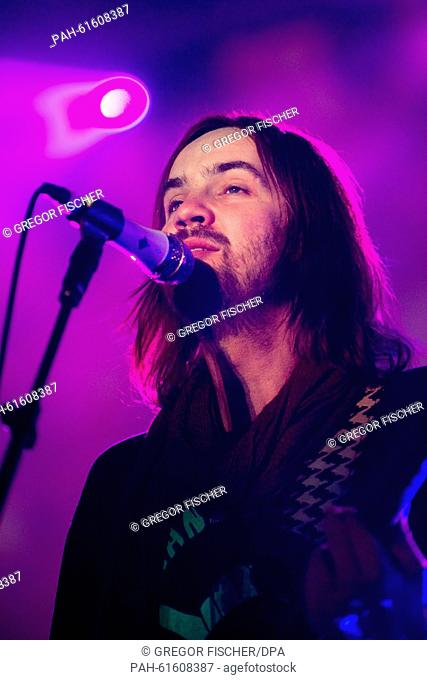 Kevin Parker of the band Tame Impala performs on stage at the Lollapalooza Festival on the grounds of the former Tempelhof airport in Berlin, Germany