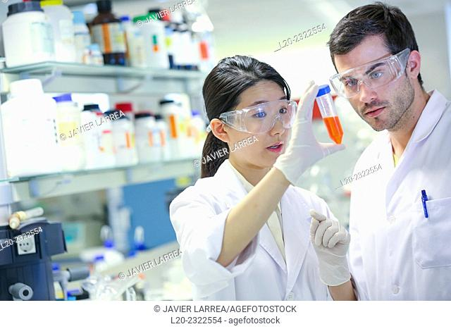 Researchers. Biological test laboratory. Chemical Analysis Laboratory. Technological Services to Industry. Tecnalia Research & Innovation, Donostia
