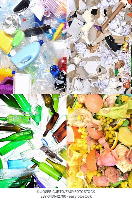 recycling plastic, papper, glass and organic