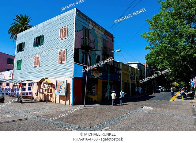 Colourful houses in La Boca neighbourhood in Buenos Aires, Argentina, South America