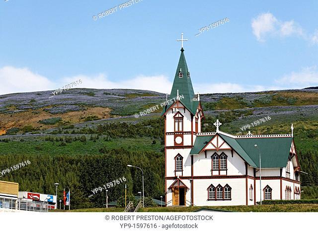 The village church, Husavik, Iceland