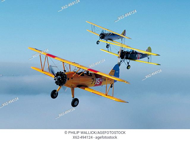 Stearman and fleet vintage WWII trainers