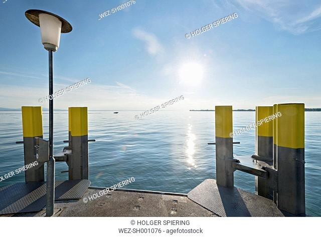 Germany, Bavaria, Nonnenhorn, View of shipping pier
