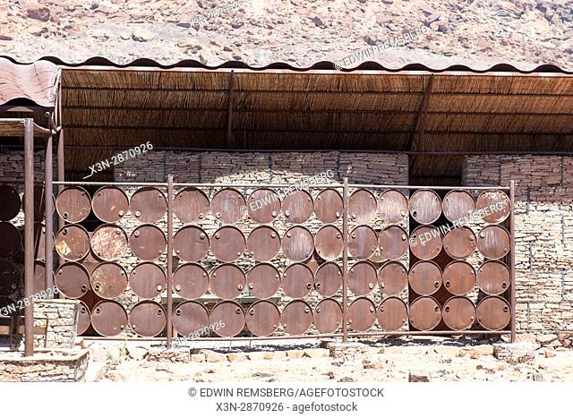Wall at the Damara Living Museum, located just north of Twyfelfontein in Namibia, Africa