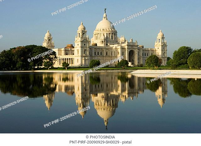 Reflection of a museum in water, Victoria Memorial, Kolkata, West Bengal, India