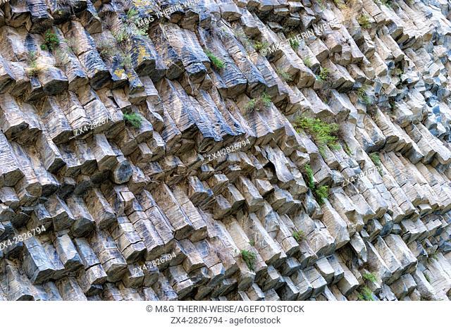 Symphony of Stones, Basalt columns formation along Garni gorge, Kotayk Province, Armenia, Caucasus, Middle East, Asia